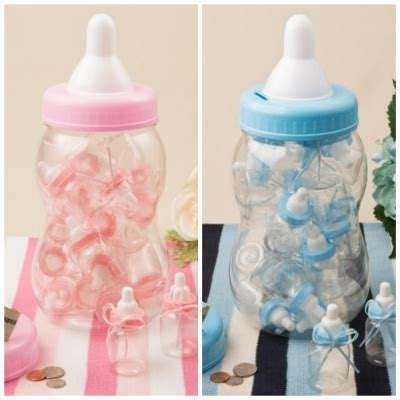 Plastic Baby Bottles For Baby Shower by Baby Bottle Centerpieces With Favor Containers
