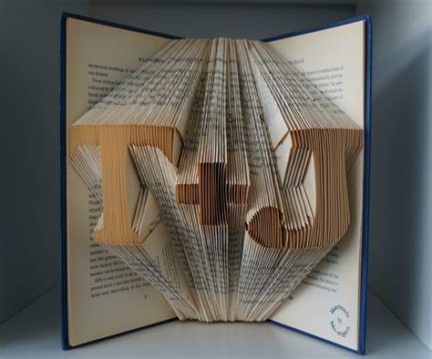 Origami Gifts For Him - paper anniversary gift for him initial book origami made to