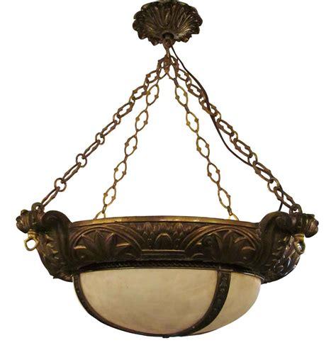 bronze glass pendant light bronze and glass dish pendant light olde things