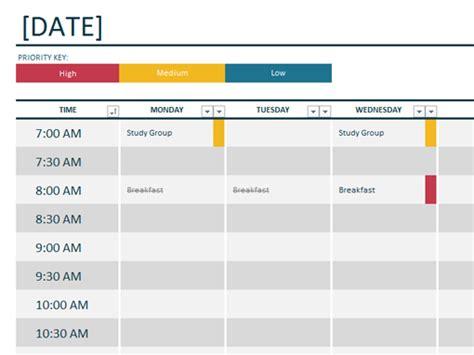 Powerpoint Calendar Template Weekly View Weekly Schedule Template