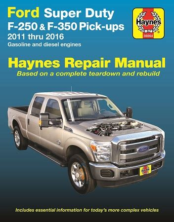 free auto repair manuals 2011 ford f series lane departure warning 2011 2016 ford super duty f 250 f 350 pick ups gas diesel haynes repair manual