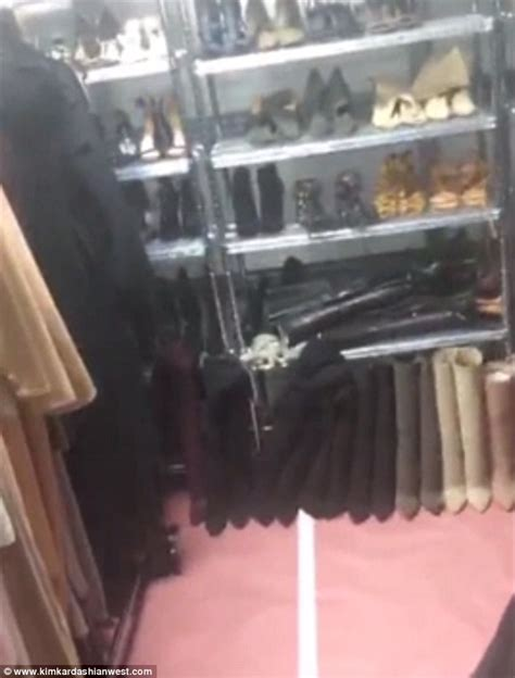 Kris Jenner Closet by Keeps Clothes In Kris Jenner S Garage