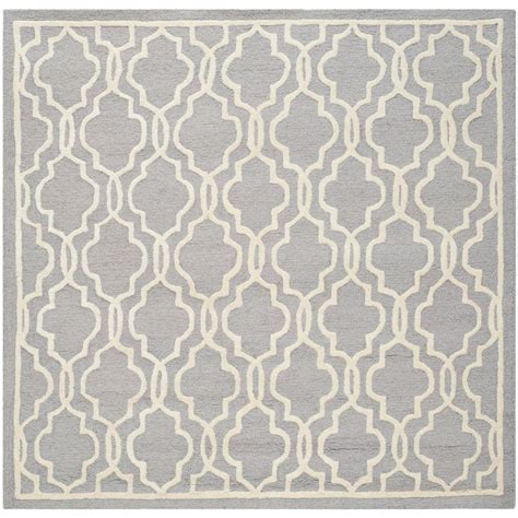 10 X 10 Area Rugs Square Safavieh Adirondack Ivory Silver 10 Ft X 10 Ft Square Area Rug Adr108b 10sq The Home Depot