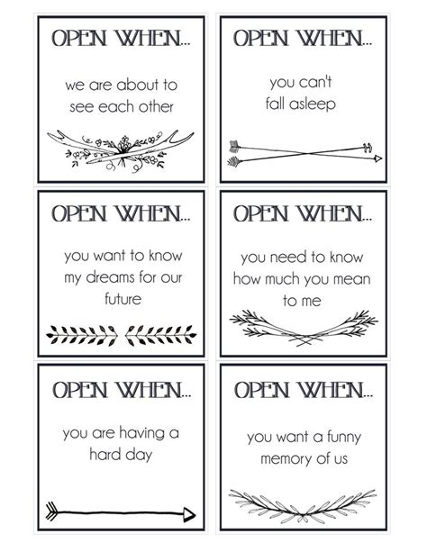 printable open when envelope labels 37 best images about open when letters for boyfriend on