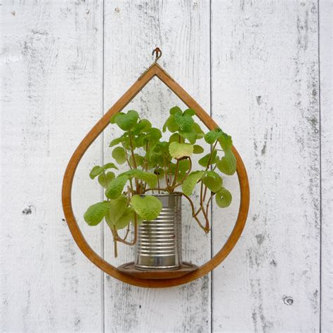 Plant Holder - midcentury wooden plant holder modern hanging by