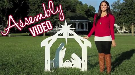 Outdoor Nativity Sets Assembly Video Youtube Nativity Yard Sign Template