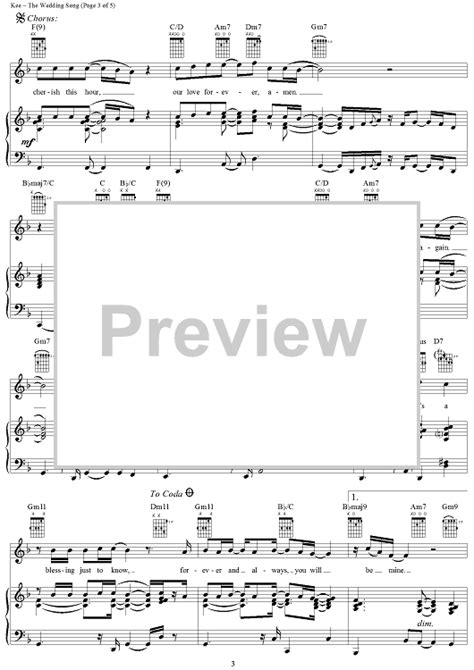Wedding Songs Sheet by The Wedding Song Sheet For Piano And More