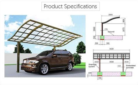 Carport Frame Only For Sale Driveway Canopy Waved Roof Single Carport Sunshield