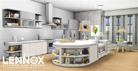 sims kitchen ideas my sims 4 updated lennox kitchen and dining set by peacemaker ic