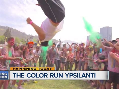 color run ypsilanti color run makes a splash in ypsilanti