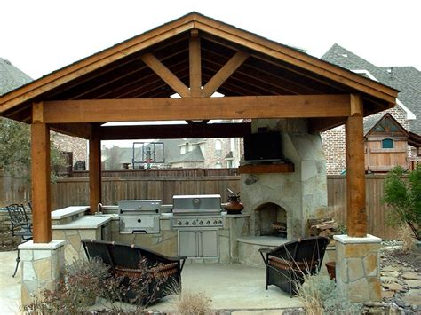 covered outdoor kitchen plans outdoor kitchen ideas and how to site it right traba homes