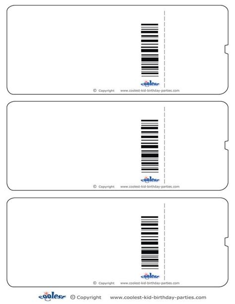 play ticket template blank printable airplane boarding pass invitations