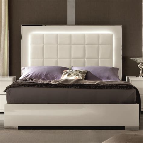 beds with lights in headboard alf italia imperia upholstered bed with led lights
