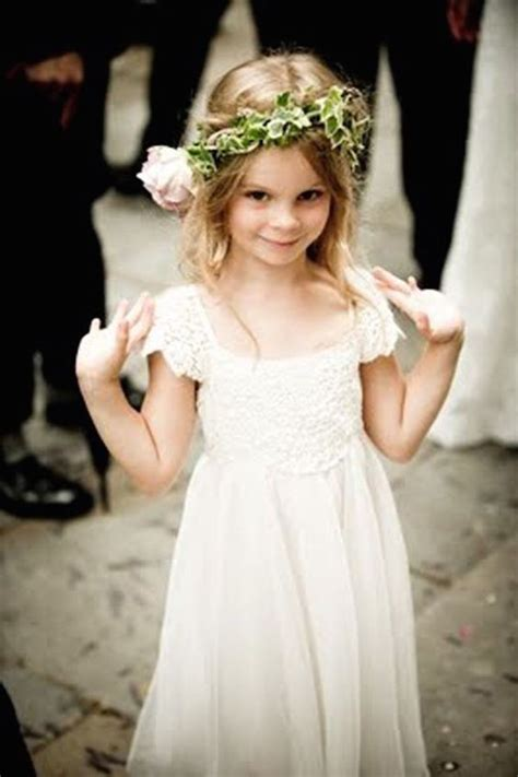 adorable girls headband of ivory silk flowers great for sugar and spice pretty flowergirl dresses to die for