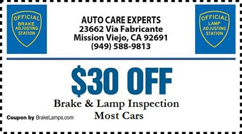brake and light adjustment certificates brake light inspection locations decoratingspecial com