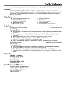 case manager resume example social amp services sample