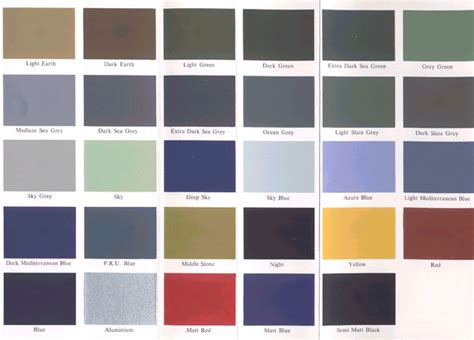 luftwaffe color chart gallery