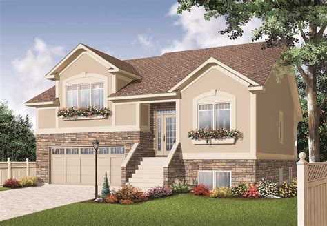 Home Plans With Pictures Split Level House Plans Home Design 3468