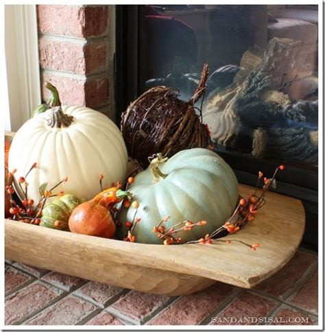 fall mantel dough bowl fall mantels and bowls
