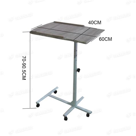 laptop desk on wheels portable height adjustable computer laptop desk pc corner table on wheels ebay