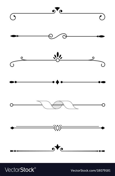 border decorative vintage elements decorative elements borders and text dividers vector image
