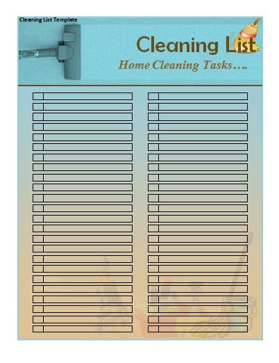 cleaning checklist template house cleaning schedule template new calendar template site