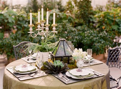 Succulent Table Decor Wedding Inspiration   Elizabeth Anne