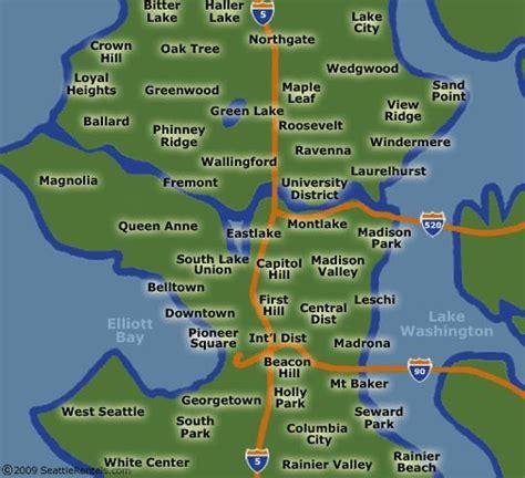 seattle map neighborhoods seattle neighborhoods map maps charts graphs