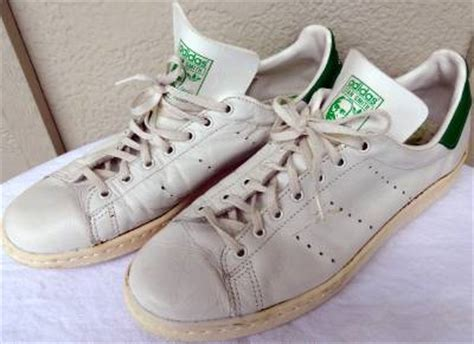 vintage adidas stan smith tennis shoes sneakers white green made size 10 ebay