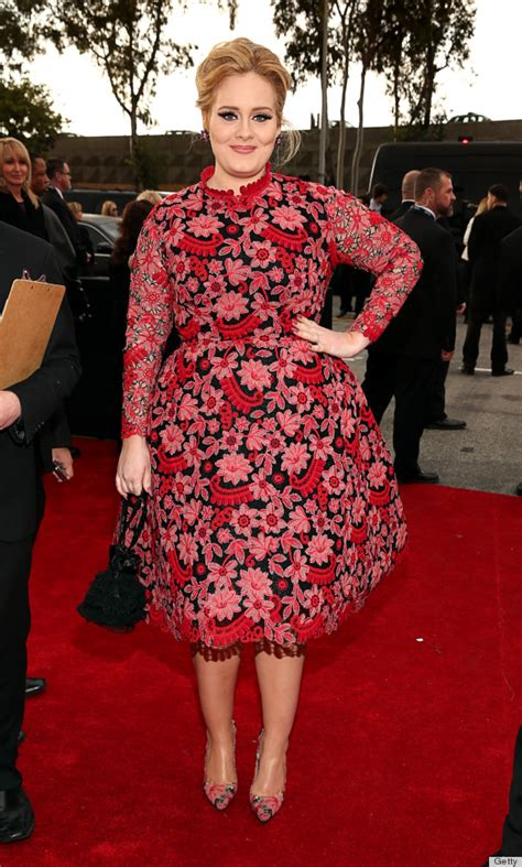 Adele Grammy Photos 2013 | adele grammys dress 2013 see the singer s red carpet look