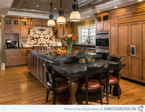eat in kitchen island designs 15 traditional style eat in kitchen designs