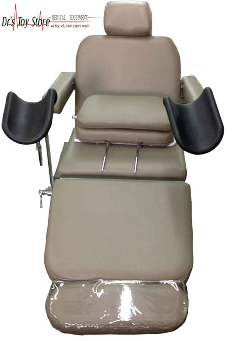 chair with stirrups 301 moved permanently
