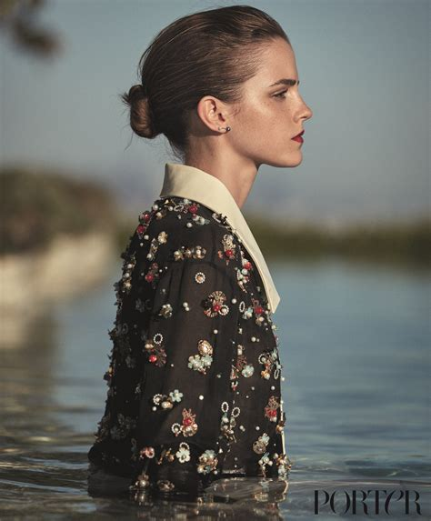 Is Watson To Be The New Of Chanel by Watson Covers Porter S Winter Issue Daily Front Row