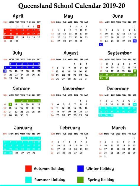 printable qld school holidays  calendar printable