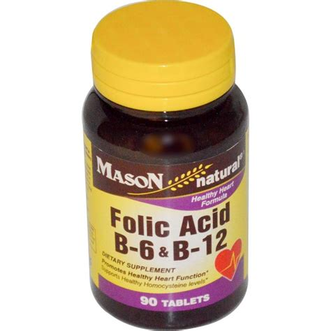 Vitamin Folic Acid vitamins folic acid b 6 b 12 90 tablets iherb