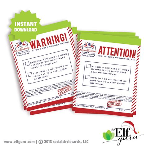 elf on the shelf official warning printable elf warning notices attention notices 76thandnewbury