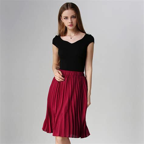 chiffon pleated skirt vintage