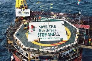 Greenpeace re occupies shell s oil installation brent spar to prevent