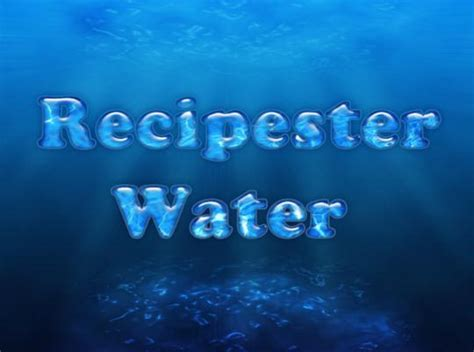 how to design water effect in photoshop photoshop water text tutorials psddude