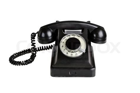 Real Free Phone Lookup With Name Fashioned Phone Isolated On A White Background Stock Photo