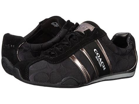 coach remonna sneaker black coach remonna black pewter signature 6pm
