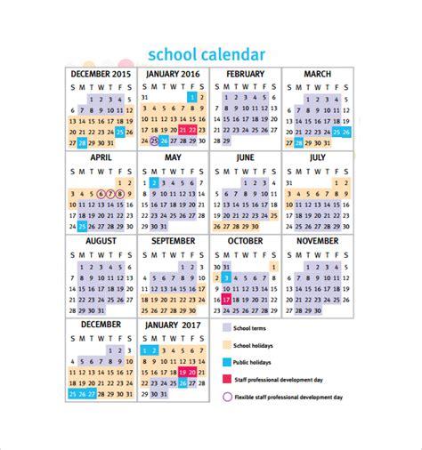 School Calendar Templates school calendar 7 free sles exles format