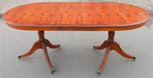Yew Dining Table Yew Wood Extending Pillar Dining Table To Seat Six Yew Dining Room Tables