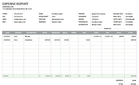 expense report template excel 2010 business expense report for microsoft excel