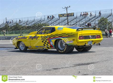 mustang drag car editorial photography image of 1971