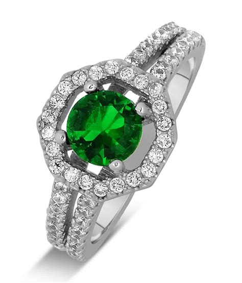luxurious 2 carat emerald and halo engagement ring