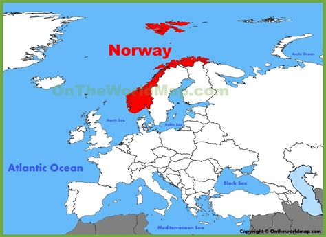 norway europe where is norway on the map my blog
