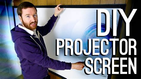 build  diy projector screen youtube