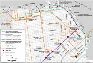 F Line Map San Francisco by F Line San Francisco Map
