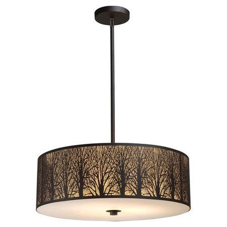 woodland silhouette l shade trees stainless steel and drum shade on pinterest
